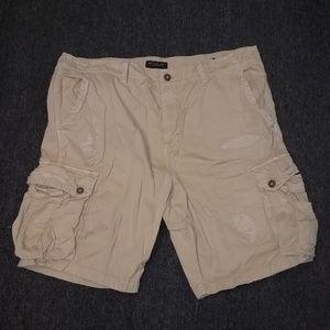 American Eagle Cargo Shorts Size 42 Tan/Khaki NWOT